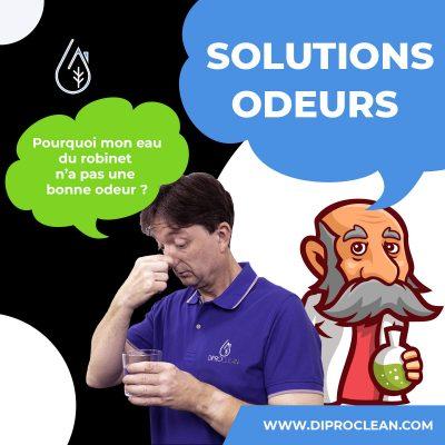 Solutions pour supprimer l'odeur dans l'eau à boire.